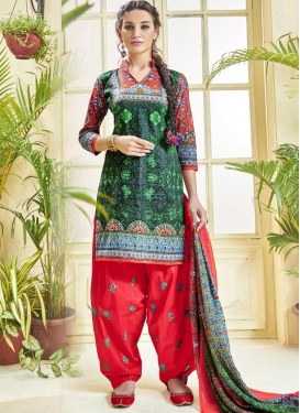 Elite Cotton  Semi Patiala Salwar Kameez For Festival