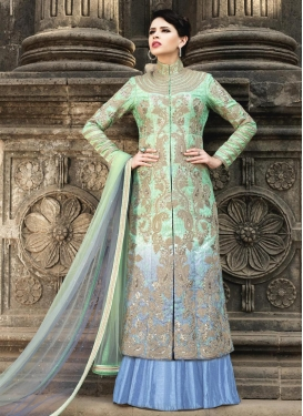 Elite Embroidered Work Kameez Style Lehenga Choli