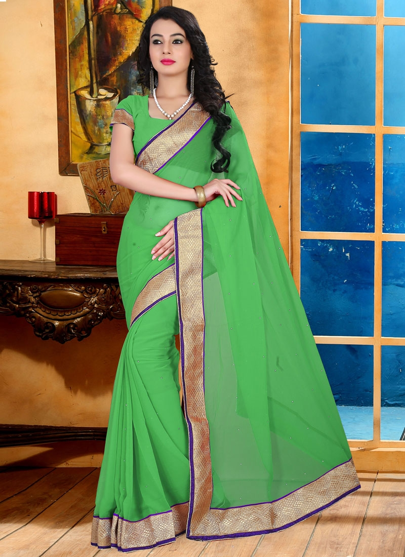Elite Lace And Stone Work Casual Saree