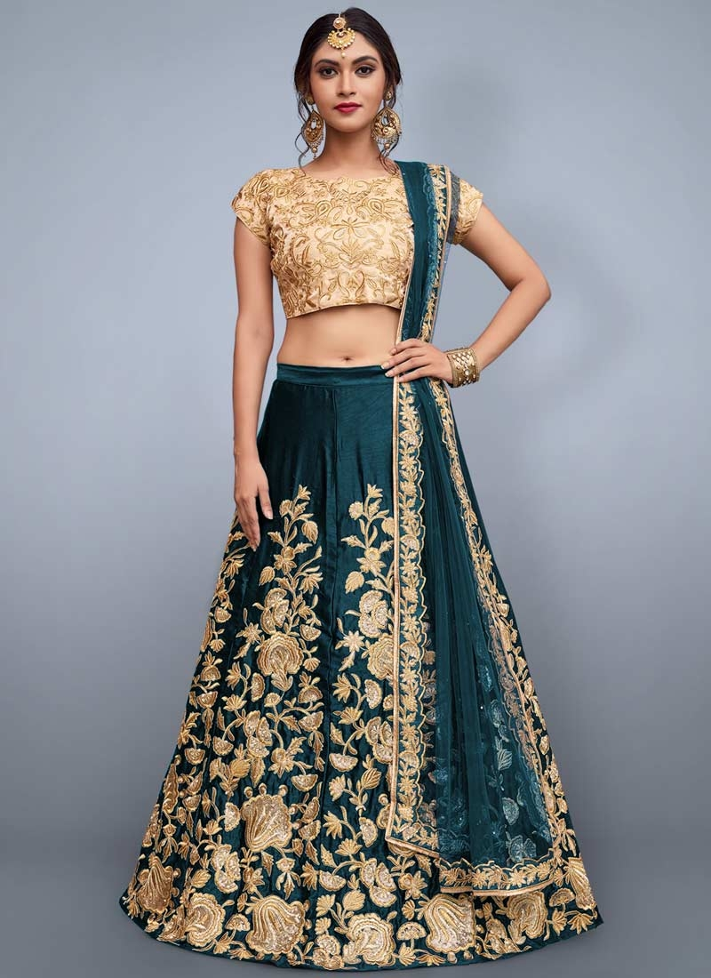 Embroidered Work A Line Lehenga Choli