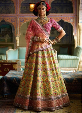 Embroidered Work A Line Lehenga Choli For Bridal