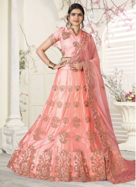 Embroidered Work A Line Lehenga Choli For Ceremonial