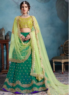 Embroidered Work A Line Lehenga Choli For Festival