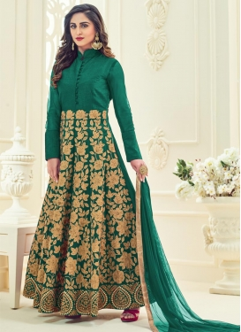 Embroidered Work Ankle Length Designer Anarkali Suit