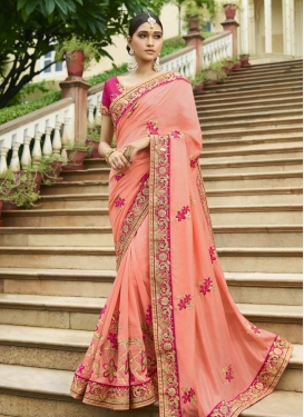 Embroidered Work Art Silk Classic Saree