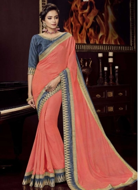 Embroidered Work Art Silk Contemporary Saree For Ceremonial