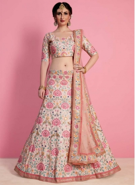Embroidered Work Art Silk Designer A Line Lehenga Choli