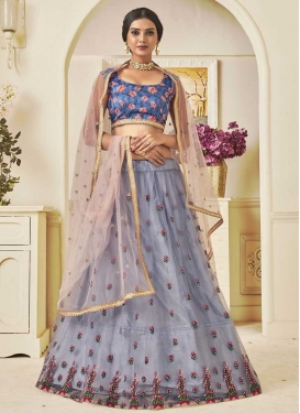 Embroidered Work Art Silk Lehenga Choli
