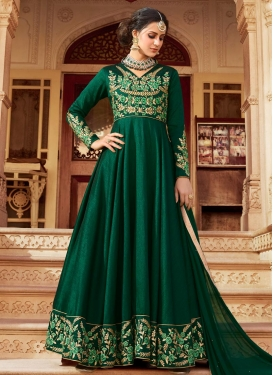 Embroidered Work Art Silk Trendy Anarkali Salwar Kameez