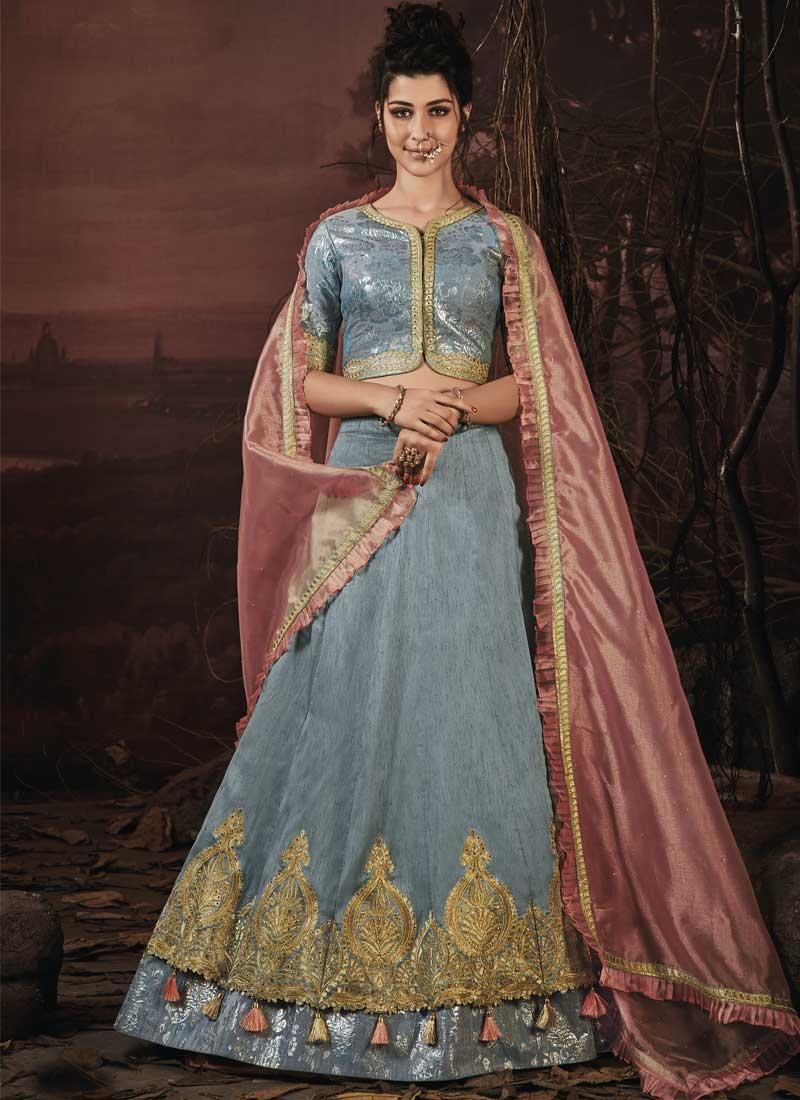 Embroidered Work Art Silk Trendy Designer Lehenga Choli