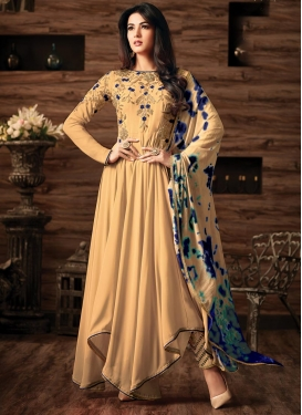 Embroidered Work Asymmetrical Designer Salwar Suit