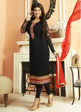 Embroidered Work Ayesha Takia Trendy Pakistani Salwar Kameez