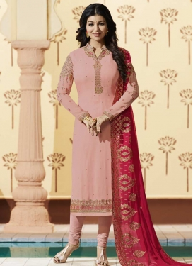 Embroidered Work Ayesha Takia Trendy Pakistani Salwar Suit
