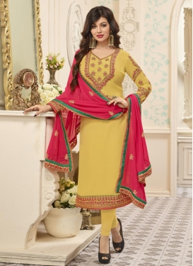 Embroidered Work Ayesha Takia Trendy Salwar Kameez
