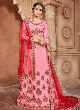 Embroidered Work Banarasi Silk A Line Lehenga Choli