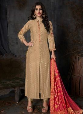 Embroidered Work Banarasi Silk Pant Style Classic Salwar Suit