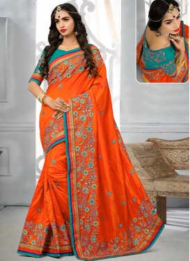 Embroidered Work Banarasi Silk Traditional Saree