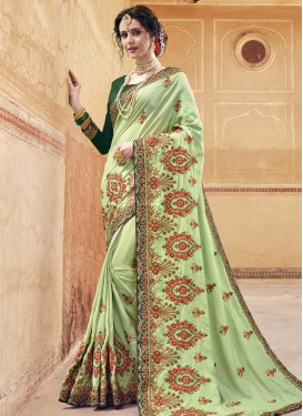 Embroidered Work Banglori Silk Classic Saree