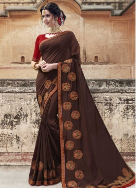Embroidered Work Banglori Silk Designer Traditional Saree