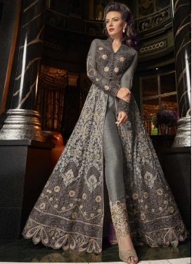 Embroidered Work Banglori Silk Pant Style Classic Suit