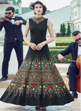 Embroidered Work Banglori Silk Readymade Floor Length Gown