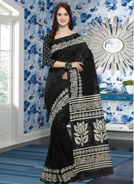 Embroidered Work Bhagalpuri Silk Traditional Saree