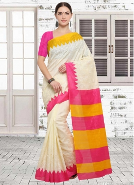 Embroidered Work Bhagalpuri Silk Trendy Classic Saree