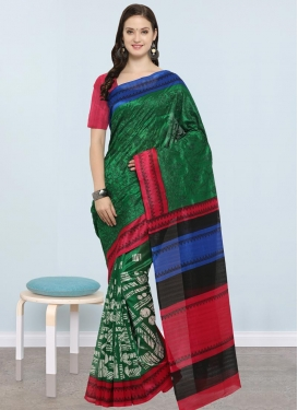 Embroidered Work Bhagalpuri Silk Trendy Saree