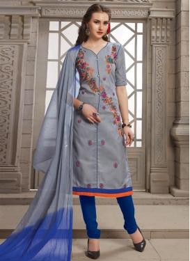 Embroidered Work Churidar Salwar Kameez