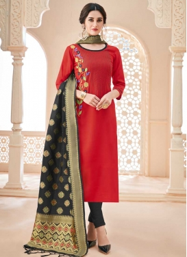 Embroidered Work Churidar Salwar Kameez