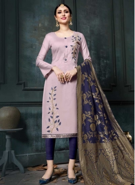 Embroidered Work Churidar Salwar Kameez For Ceremonial