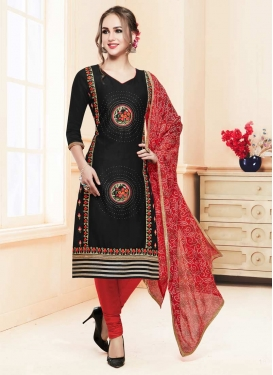 Embroidered Work Churidar Salwar Suit