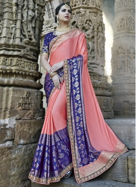 Embroidered Work Classic Designer Saree For Party