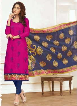 Embroidered Work Cotton Churidar Salwar Kameez