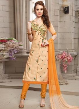 Embroidered Work Cotton Trendy Churidar Salwar Kameez