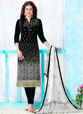 Embroidered Work Cotton Trendy Churidar Salwar Kameez