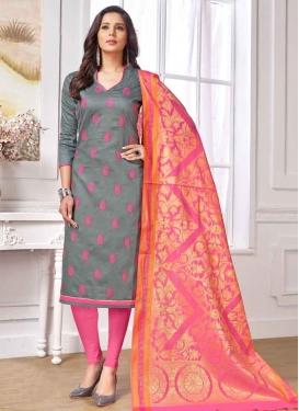 Embroidered Work Cotton Trendy Churidar Salwar Suit