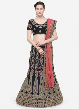 Embroidered Work Crepe Velvet Trendy Lehenga Choli