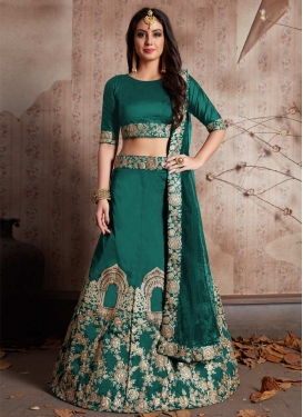 Embroidered Work Designer A Line Lehenga Choli For Festival