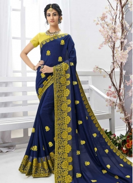 Embroidered Work Designer Contemporary Saree For Ceremonial