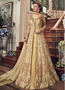 Embroidered Work Designer Kameez Style Lehenga