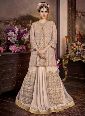 Embroidered Work Designer Kameez Style Lehenga Choli For Party