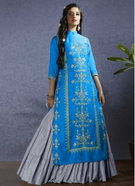 Embroidered Work Designer Kameez Style Lehenga For Ceremonial