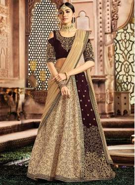 Embroidered Work Designer Lehenga Style Saree For Bridal
