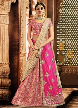 Embroidered Work Designer Lehenga Style Saree For Bridal