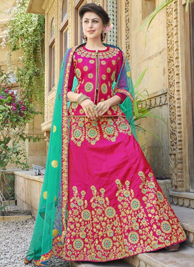 Embroidered Work Designer Long Choli Lehenga
