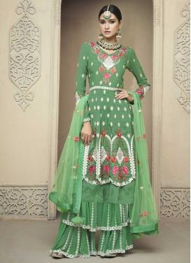 Embroidered Work Designer Palazzo Salwar Suit