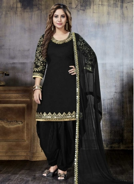 Embroidered Work Designer Patiala Salwar Kameez