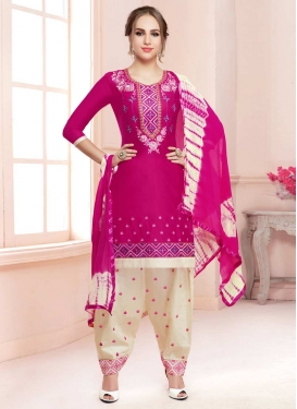 Embroidered Work Designer Patiala Salwar Kameez For Ceremonial