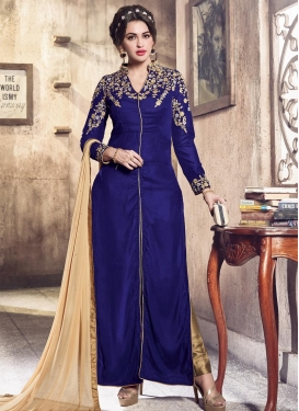 Embroidered Work Designer Straight Salwar Kameez